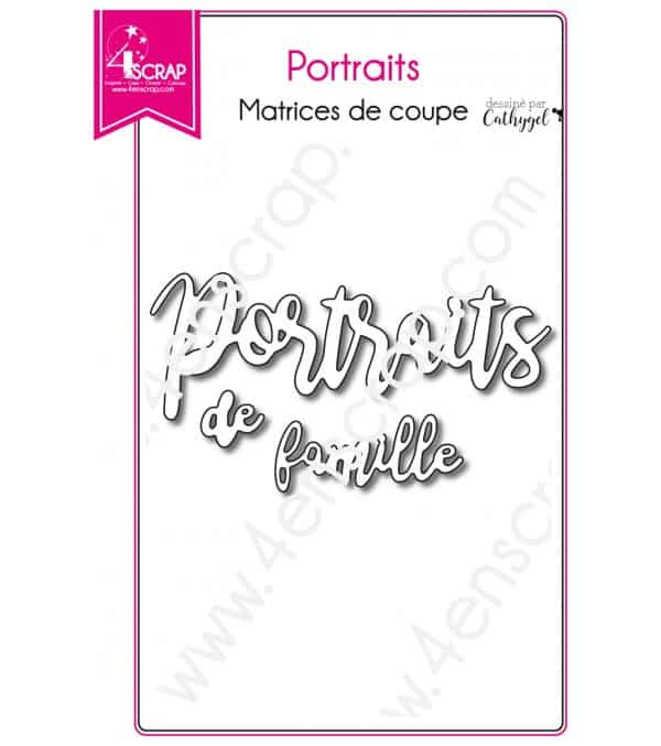 Matrice de coupe Scrapbooking Carterie mot photo - Portraits