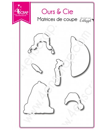 Matrice de coupe Scrapbooking Carterie animal hiver - Ours & Cie 2