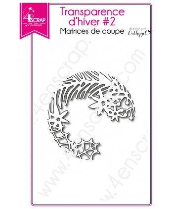 Cutting die Scrapbooking Card making leaf branch - Winter Transparency 2