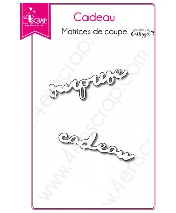 Matrice de coupe Scrapbooking Carterie mot surprise - Cadeau