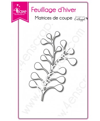 Cutting die Scrapbooking Card making leaf - Winter Foliage