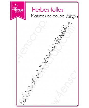 Matrice de coupe Scrapbooking Carterie bordure - Herbes folles