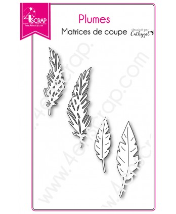 Cutting die Scrapbooking Card bird - Feathers