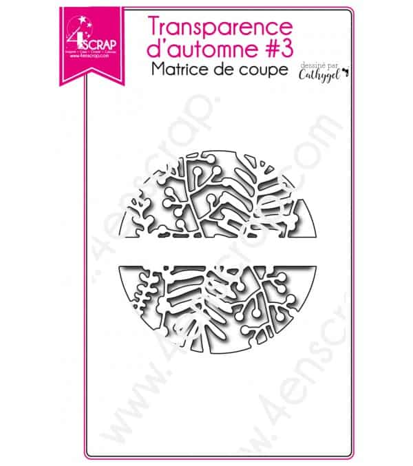 Matrices de coupe Scrapbooking Carterie feuille - Transparence d'automne 3