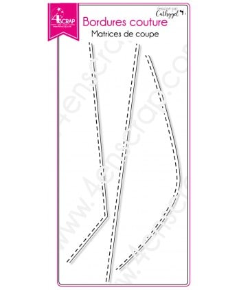 Matrice de coupe Scrapbooking Carterie colline trait - Bordures couture