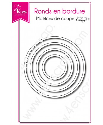 Matrice de coupe Scrapbooking Carterie forme - Ronds en bordure