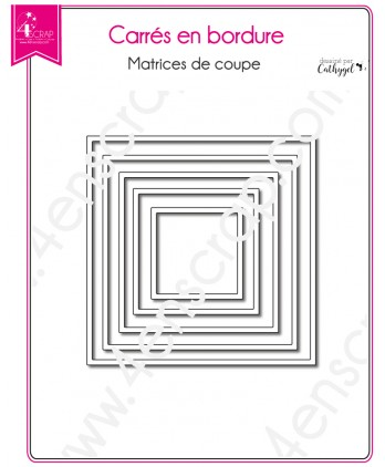 Matrice de coupe Scrapbooking Carterie forme - Carrés en bordure