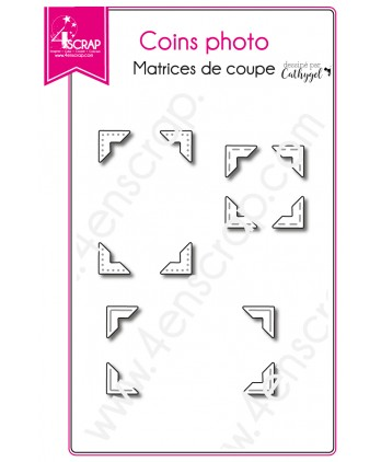 Matrice de coupe Scrapbooking Carterie couture - Coins photo