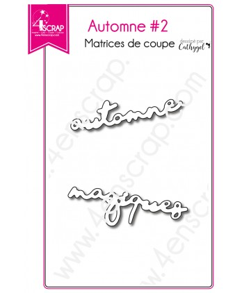 Matrices de coupe Scrapbooking Carterie mot - Automne 2