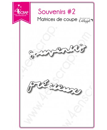 Matrices de coupe Scrapbooking Carterie mot - Souvenirs 2