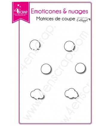 Matrices de coupe Scrapbooking Carterie planning - Emoticones & nuages