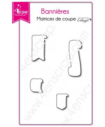 Matrices de coupe Scrapbooking Carterie étiquette planning - Bannières