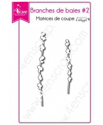 Matrices de coupe Scrapbooking Carterie feuille - Branches de baies 2