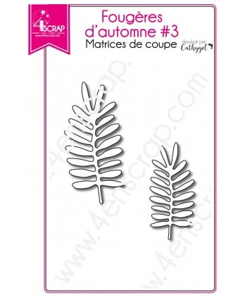 Cutting die Scrapbooking Card making leaf stem - Fall ferns 3