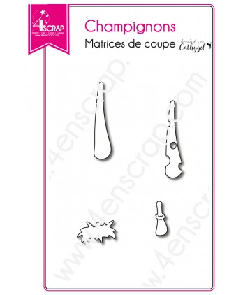 Matrices de coupe Scrapbooking Carterie BD - Champignons
