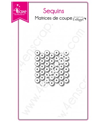 Matrice de coupe Scrapbooking Carterie rond shaker card - Sequins