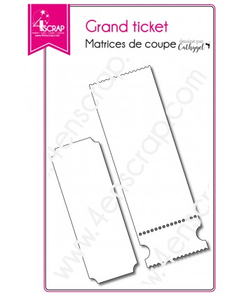Matrice de coupe Scrapbooking Carterie anniversaire invitation - Grand ticket