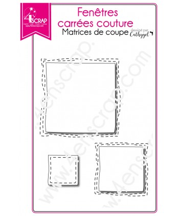 Cutting die Scrapbooking Card making shaker card - Stitched square windows