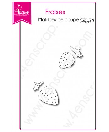 Matrice de coupe Scrapbooking Carterie fruit rouge - Fraises