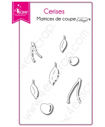 Matrice de coupe Scrapbooking Carterie fruit rouge - Cerises