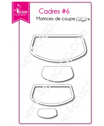 Matrice de coupe Scrapbooking Carterie arrondi - Cadres 6