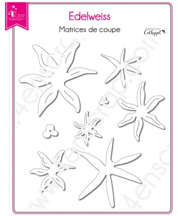 Cutting die Scrapbooking Card making flower mountain - Edelweiss