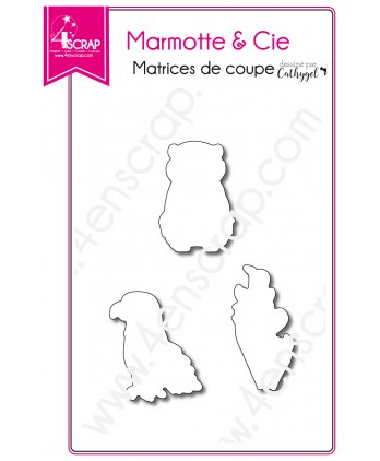 Cutting die Scrapbooking Card making animal mountain - Marmot & Cie