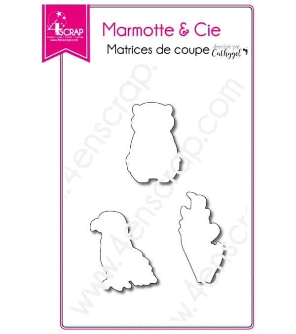 Matrice de coupe Scrapbooking Carterie animal montagne - Marmotte & Cie