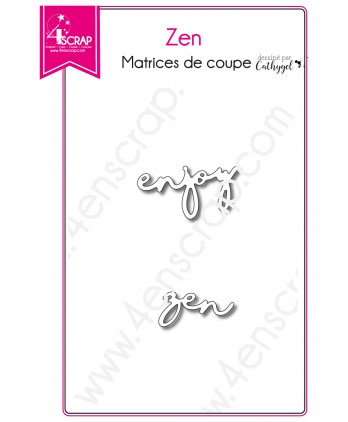 Matrice de coupe Scrapbooking Carterie mot enjoy - Zen