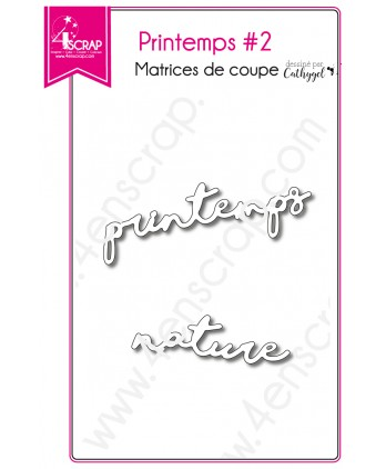 Matrice de coupe Scrapbooking Carterie mot nature - Printemps 2