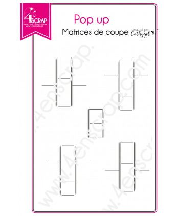 Matrice de coupe Scrapbooking Carterie 3D volume - Pop up