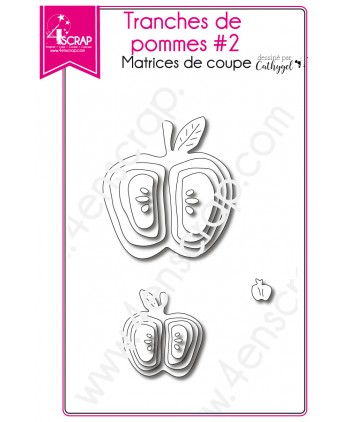 Matrice de coupe Scrapbooking Carterie fruit - Tranches de pommes 2