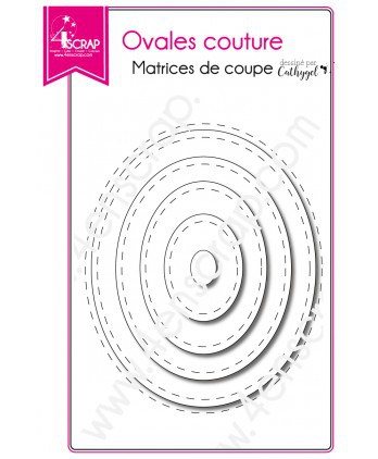 Matrice de coupe Scrapbooking Carterie forme - Ovales couture