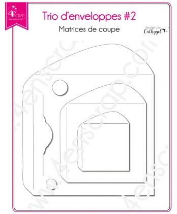 Matrice de coupe Scrapbooking Carterie courrier carré - Trio d'enveloppes 2