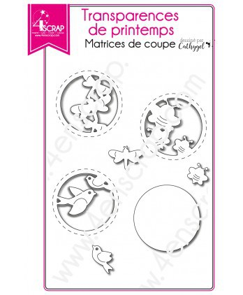 Matrice de coupe Scrapbooking Carterie oiseau - Transparences de printemps