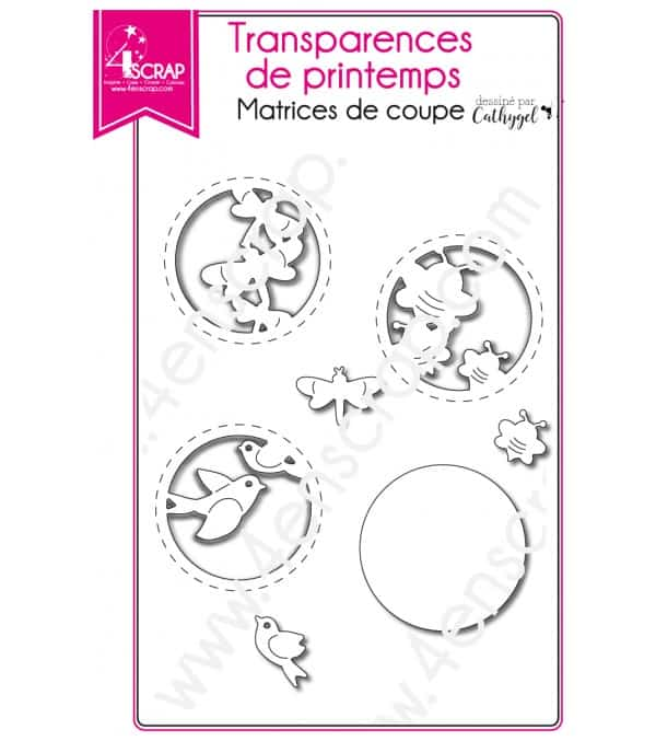 Matrice de coupe Scrapbooking Carterie papillon - Transparences de printemps