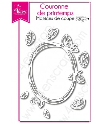 Matrice de coupe Scrapbooking Carterie feuille - Couronne de printemps