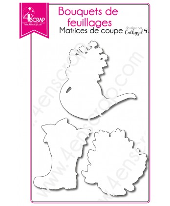 Cutting die Scrapbooking Card making flower garden - Foliages bouquets