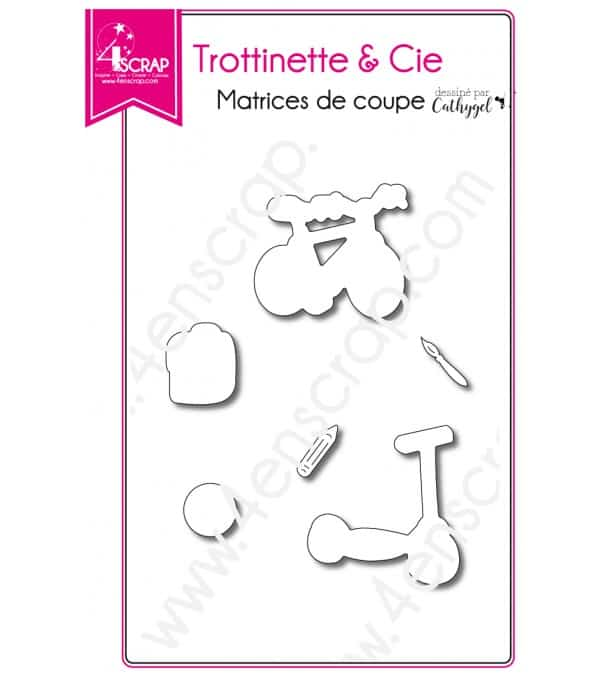 Matrice de coupe Scrapbooking Carterie enfant - Trottinette & Cie