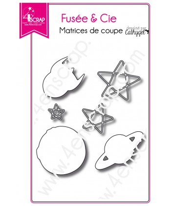 Cutting die Scrapbooking Card making star space - Rocket & Co