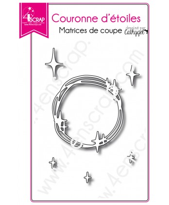 Cutting die Scrapbooking Card making space constellation - Stars crown