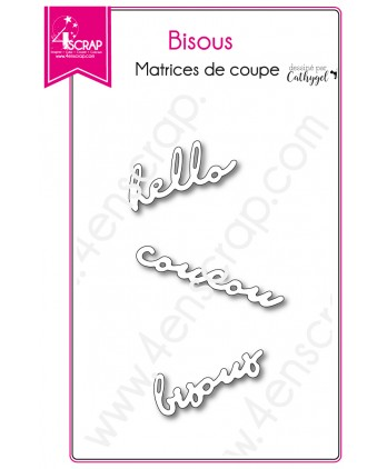 Cutting die Scrapbooking Card making hello word - Kisses