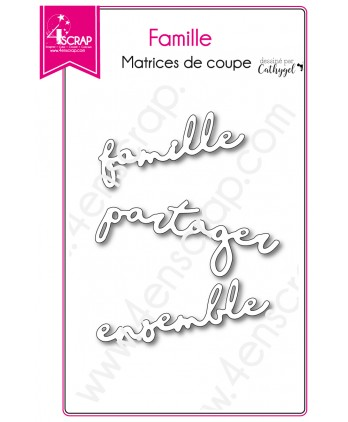 Cutting die Scrapbooking Card making word together share - Family