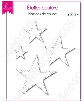 Cutting die Scrapbooking Card making shape - Stitched Stars