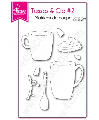Cutting  die Scrapbooking Card making drink dishes - Cups & Co 2