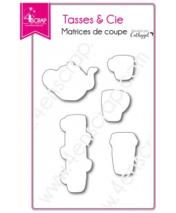 Cutting die Scrapbooking Card making drink dishes - Cups & Co