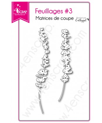 Matrice de coupe Scrapbooking Carterie feuille tige - Feuillages 3