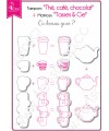 Clear stamp Scrapbooking Card Making drink - Tea, coffee, chocolate