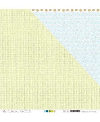 "Printed Paper Scrapbooking Card making - ""Small Apple Green Bubbles on White Background"""