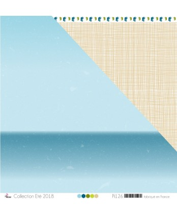 "Printed Paper Scrapbooking Card making - ""Gradient of Glacier Blue & Ocean Blue Stained"""